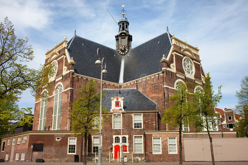 Noorderkerk i Amsterdam arkivbilder