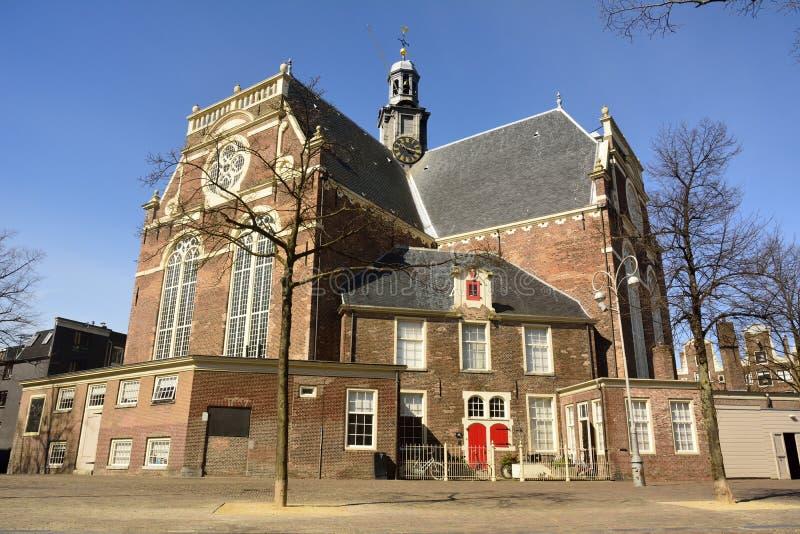 Noorderkerkkerk in Jordaan-district van Amsterdam stock afbeelding