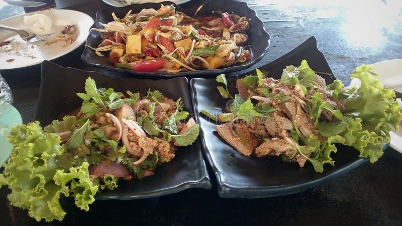 Noordoostelijk voedsel en zoete leverstok met glutineuze rijst en royalty-vrije stock foto