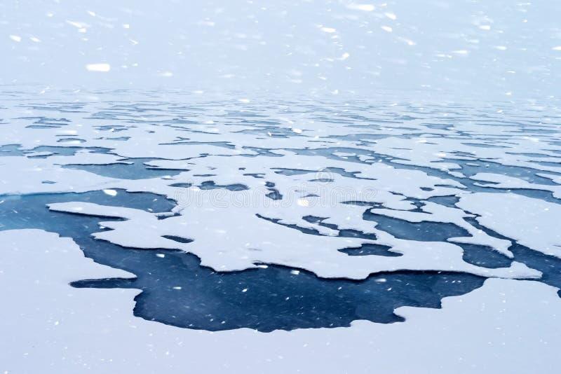 Noordpool gletsjer royalty-vrije stock afbeelding