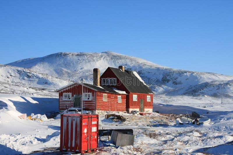 Noordpool huisvesting, Ilimanaq, Groenland royalty-vrije stock afbeelding