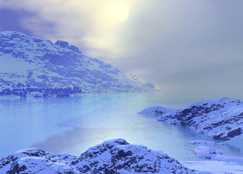 Noordpool landschap royalty-vrije illustratie