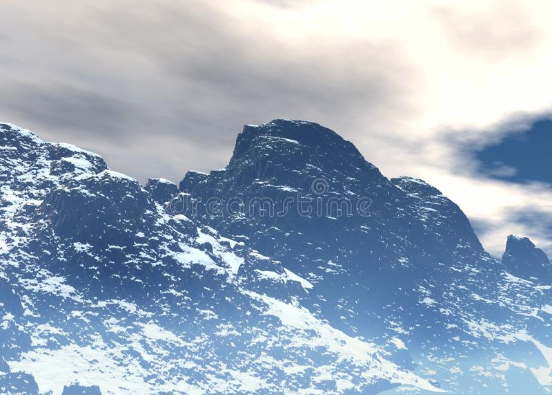 Noordpool landschap vector illustratie