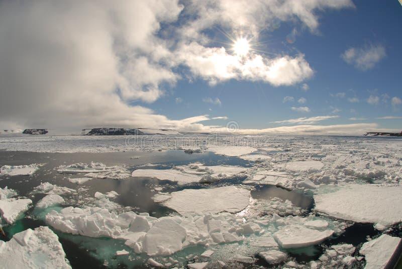 Noordpool landschap royalty-vrije stock afbeeldingen