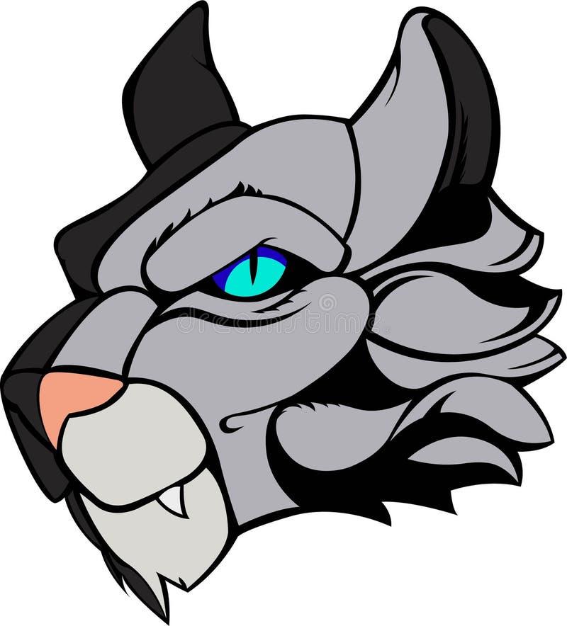 Noordpool Wilde Cat Head Illustration Vector royalty-vrije stock foto