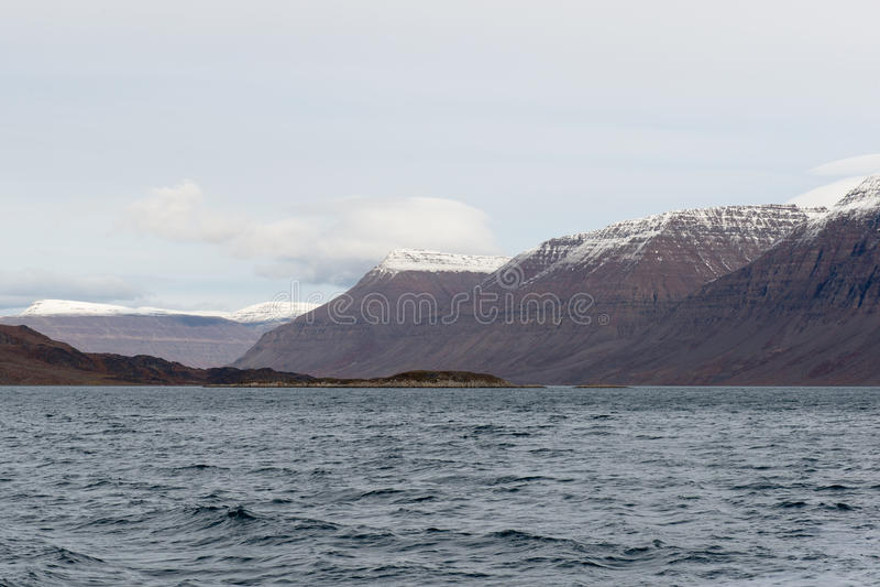 Noordpoollandschap in Groenland royalty-vrije stock afbeelding