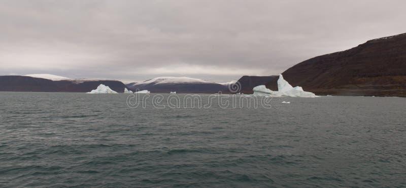 Noordpoollandschap in Groenland stock fotografie