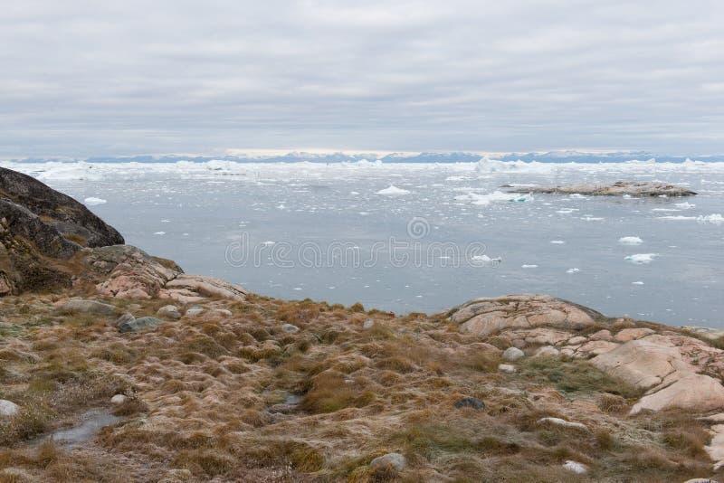 Noordpoollandschap in Groenland royalty-vrije stock fotografie
