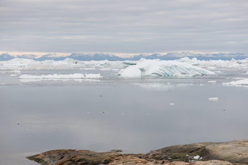 Noordpoollandschap in Groenland stock afbeelding