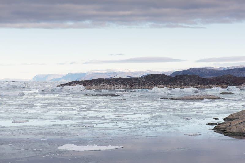 Noordpoollandschap in Groenland stock foto