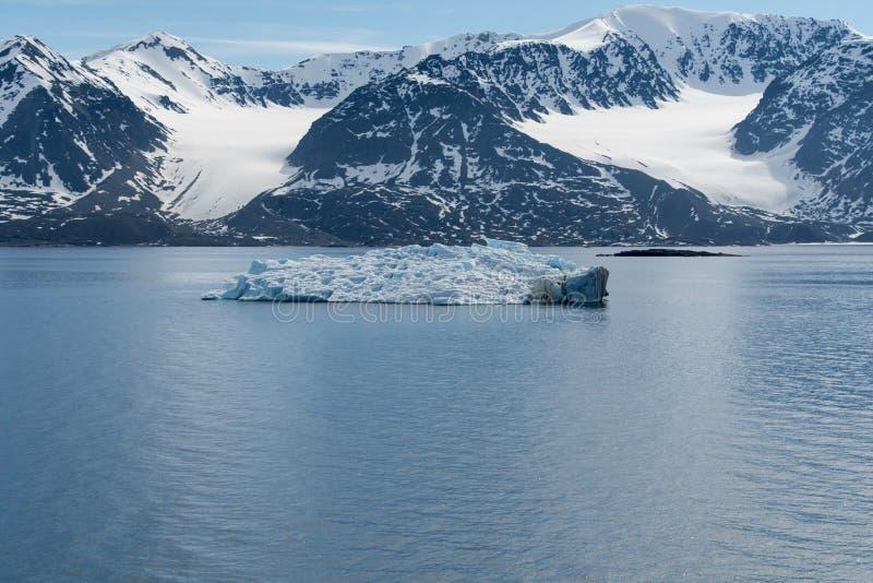 Noordpoollandschap, Svalbard Eiland, Noorwegen 2018 stock afbeeldingen