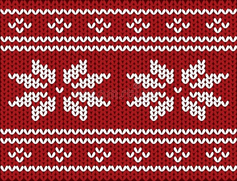 Noords gebreid patroon op wol vector illustratie