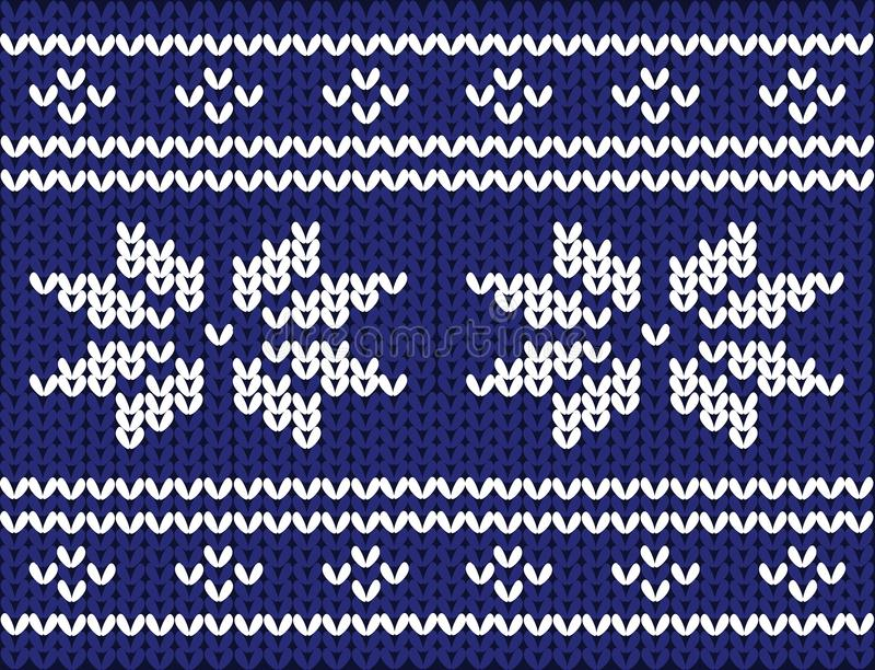 Noords gebreid patroon op wol stock illustratie
