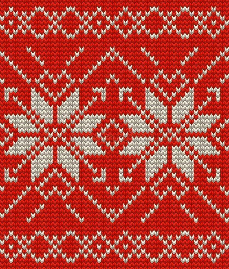 Noords gebreid perfect naadloos patroon EPS 10 vector vector illustratie