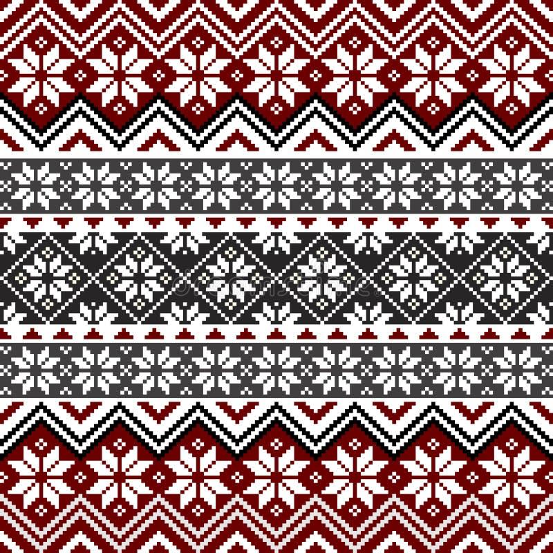 Noords sneeuwvlokpatroon vector illustratie