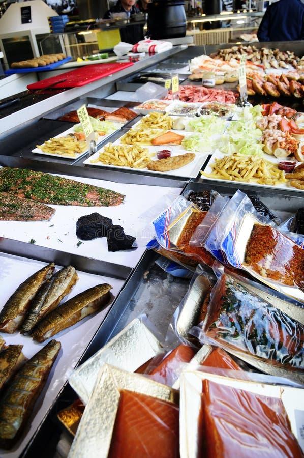 Noordse @Bergen van de Vissenmarkt stock foto