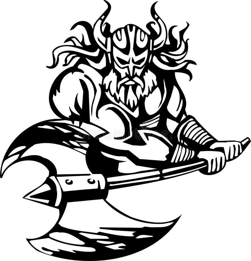 Noordse Viking - vectorillustratie. Vinyl-klaar. vector illustratie