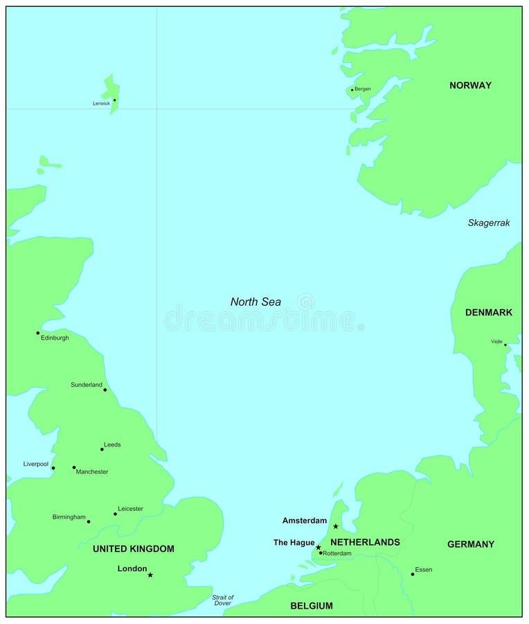 Noordzee vector illustratie
