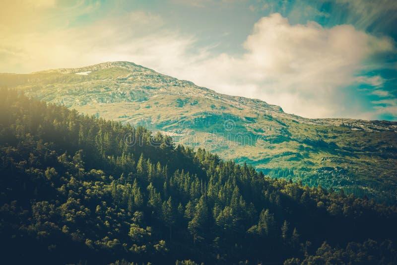 Noors berglandschap stock afbeeldingen