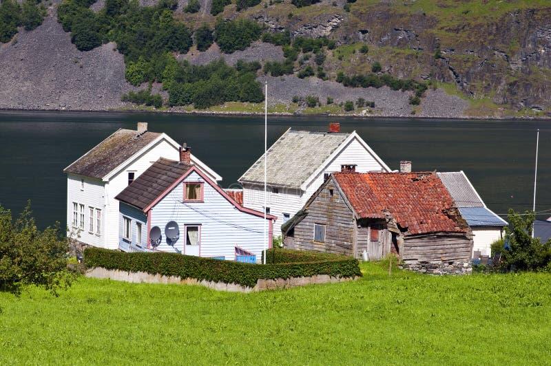 Noors dorp stock afbeelding