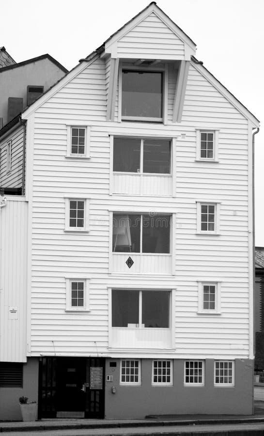 Noors havenhuis. stock foto