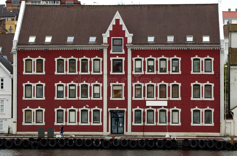 Noors havenhuis. royalty-vrije stock fotografie