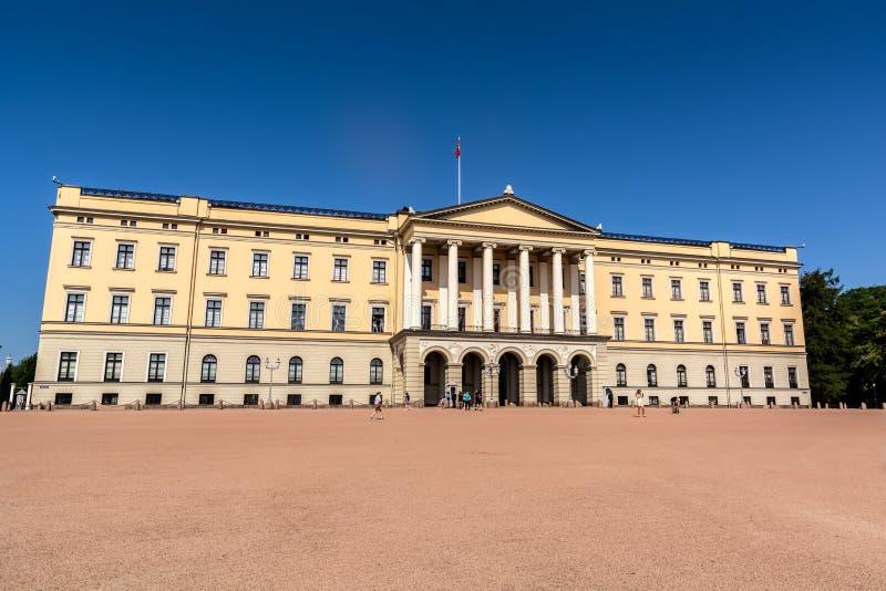 Noors koninklijk paleis royalty-vrije stock afbeelding