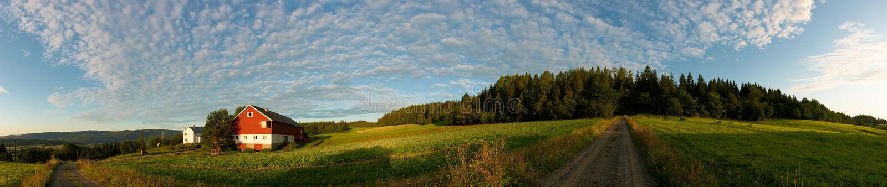 Noors landbouwbedrijf stock foto