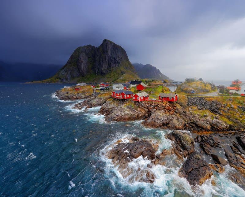 Noors visserijdorp Reine royalty-vrije stock fotografie