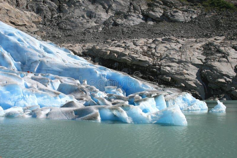 Noorse gletsjer stock foto
