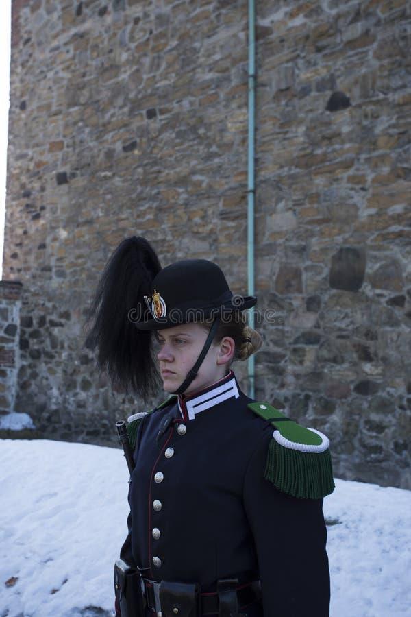 Noorse Koninklijke militair stock foto