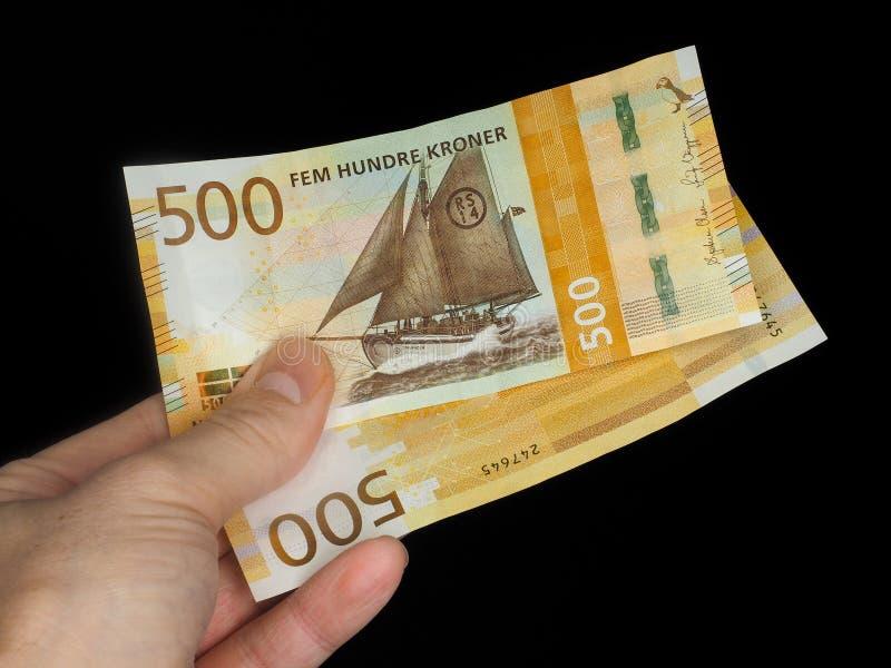 Noorse kronen stock fotografie