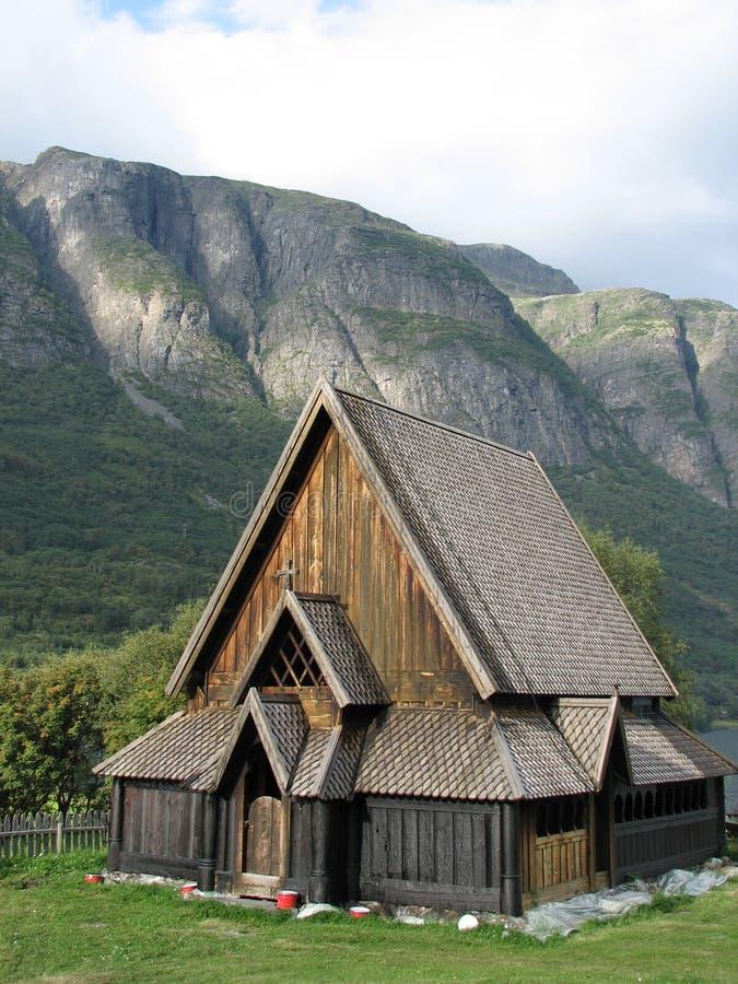 Noorse staafkerk stock afbeeldingen
