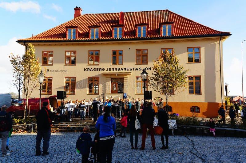 Noorse traditionele volksprestaties royalty-vrije stock foto's