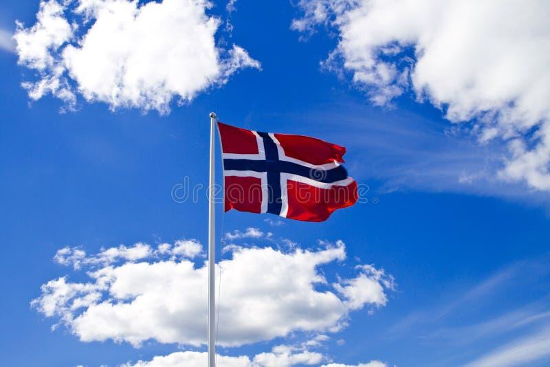 Noorse vlag stock fotografie
