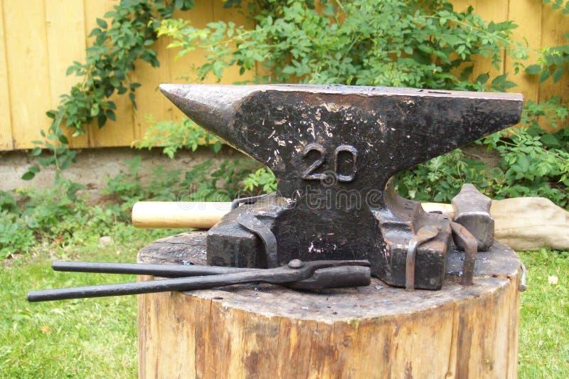 Noorwegen - Ambacht - Oude Blacksmithing royalty-vrije stock afbeelding