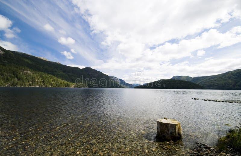 Noorwegen, fjord toneel stock fotografie