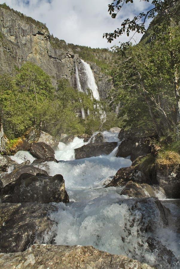 Noorwegen, Sognefjord royalty-vrije stock foto