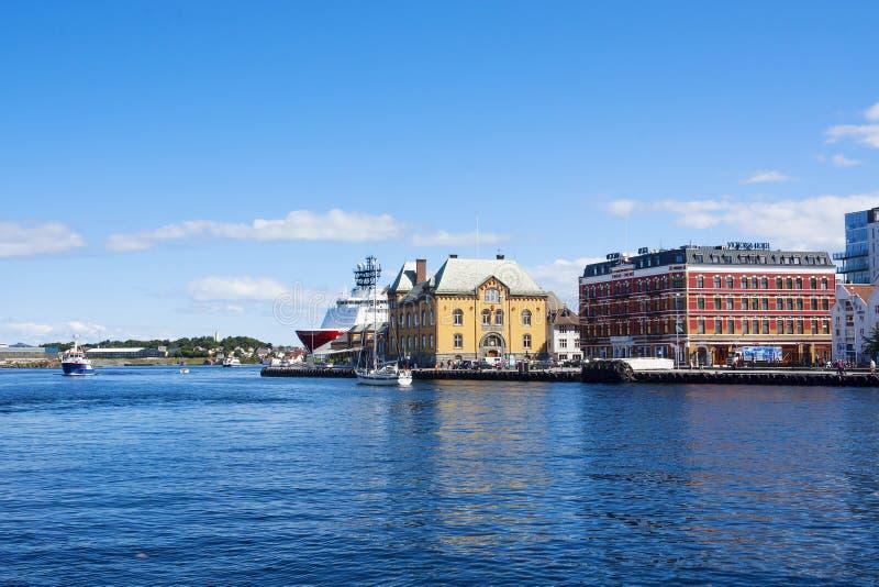 Noorwegen, Stavanger, dijk, haven stock foto's