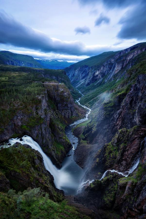 Noorwegen Voringfossen royalty-vrije stock foto