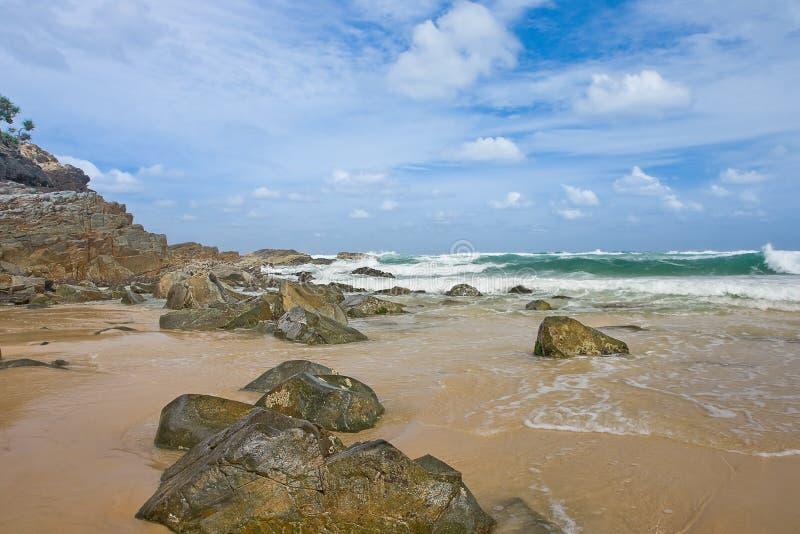 Beautiful Beach Scene In Noosa, Queensland Australia Stock ...