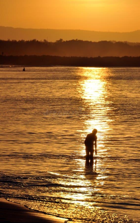 Noosa dirige le coucher du soleil - Queensland, Australie photos libres de droits