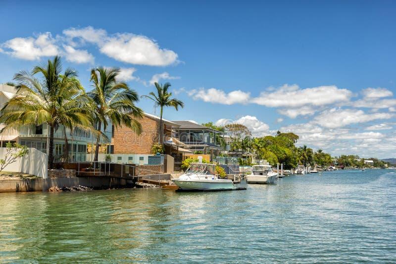 Noosa Heads. Beach resort on the Queensland coast royalty free stock photos