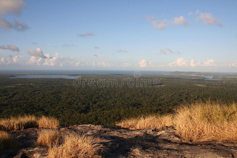 Noosa from Mount Cooroy. View of Noosa from Mount Cooroy, Sunshine Coast, Queensland, Australia royalty free stock image