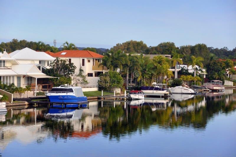 Noosa riega los canales - Queensland, Australia fotos de archivo libres de regalías