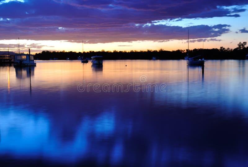 Noosa Sonnenuntergang stockfotografie