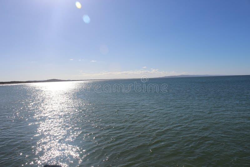 Noosa strandhav royaltyfria bilder