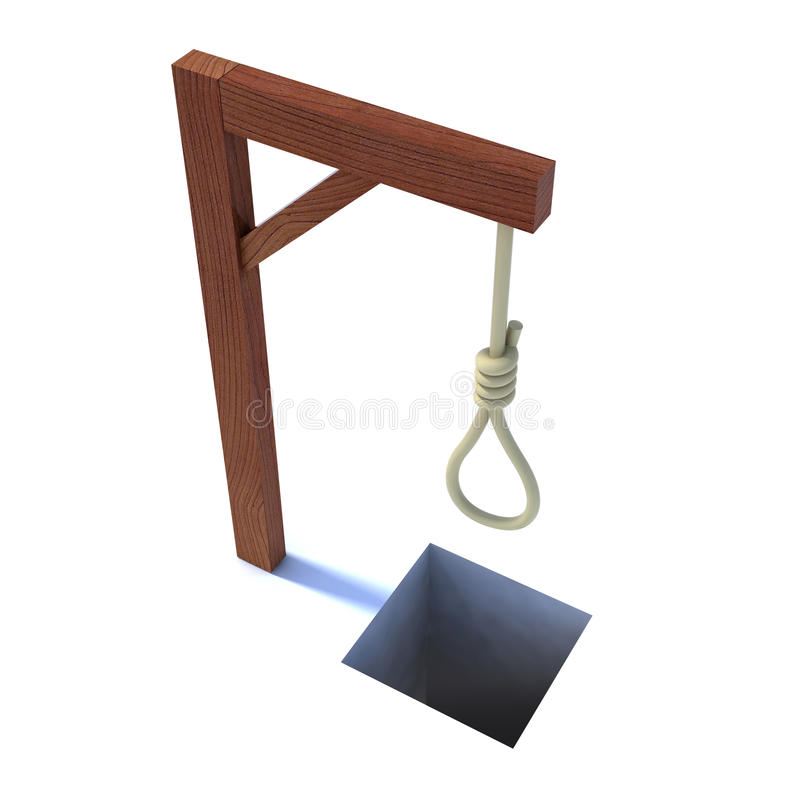 Download Noose gallows stock illustration. Illustration of medieval - 21930613
