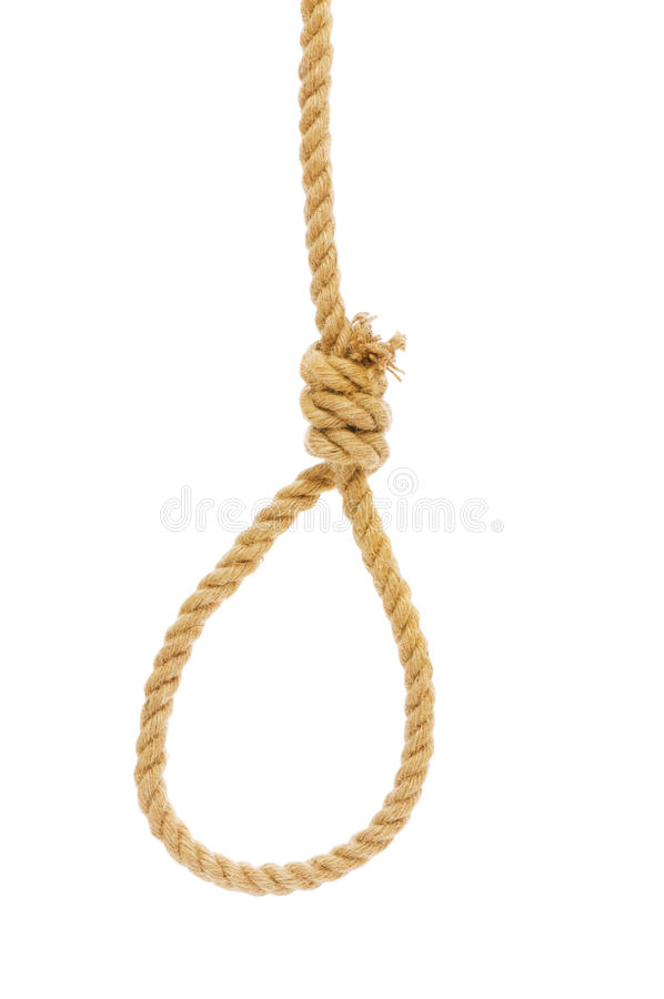 Noose made of rope royalty free stock photos