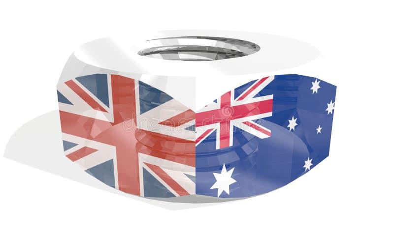Noot met vlaggen royalty-vrije illustratie